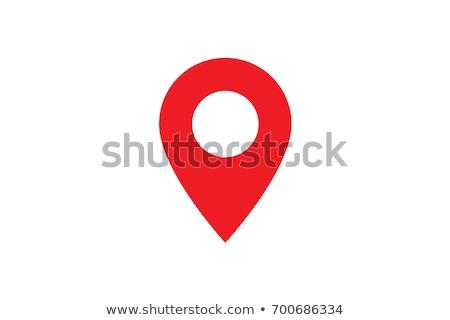 pin icon location vector sign isolated on white background stock photo © nikodzhi