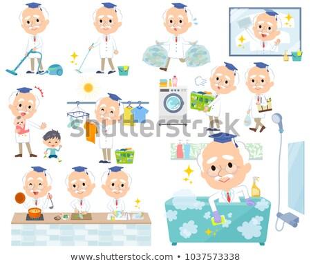 Doctor old men_housekeeping Stock photo © toyotoyo
