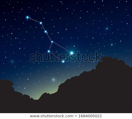 Nagy medve csillagkép éjszaka csillagos ég fény Stock fotó © orensila