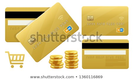 banking gold credt cards for payments by card processing stock photo © loopall