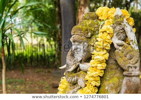 Сток-фото: Ganesha Coverd By Moss In The Park