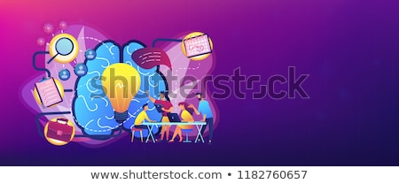 Stock photo: Business analysis it header or footer banner