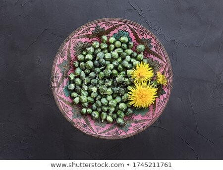 Preparation of false capers from dandelion buds Stock photo © madeleine_steinbach