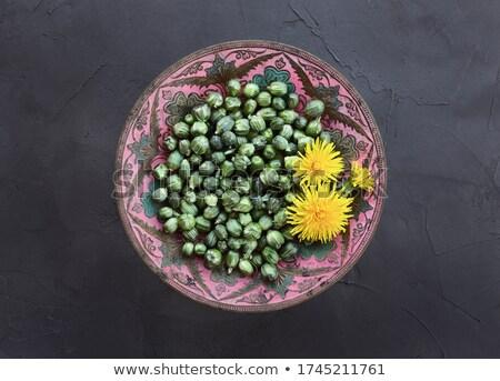 preparação · falso · dandelion · jovem · comida · folha - foto stock © madeleine_steinbach
