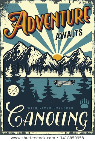 Color vintage Camping poster Stock photo © netkov1
