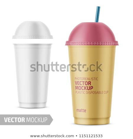 Ice Tea Plastic Takeaway Vector 3D Cup Stock photo © pikepicture