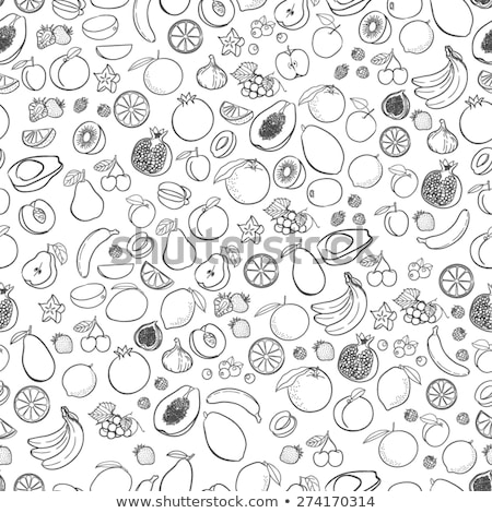 Summertime Icons Set Fruits Vector Illustration Stockfoto © robuart