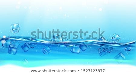 buz · düşen · su · dalgalar · sıçraması - stok fotoğraf © cookelma