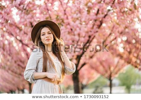 портрет молодые Lady нежный платье саду Сток-фото © ElenaBatkova