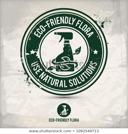 alternative eco flora stamp stock photo © szsz