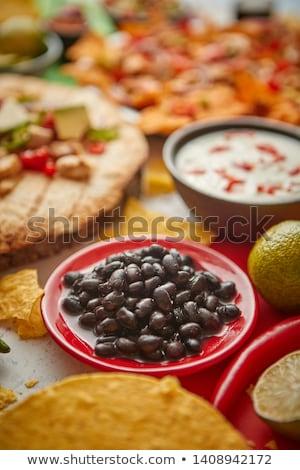 feijões · molho · tigela · comida · cor - foto stock © dash