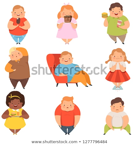 Set of chubby character Stock photo © bluering