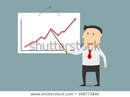 Businessman with pointer stick presentation chart Stock photo © jossdiim