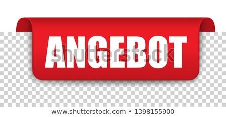 angebot red covert marker banner transparent stock photo © limbi007