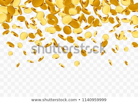 Foto stock: Caer · superior · monedas · de · oro · blanco · dinero · fondo