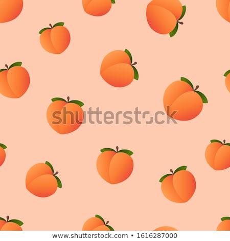 Padrão pêssegos colorido frutas de verão branco textura Foto stock © netkov1