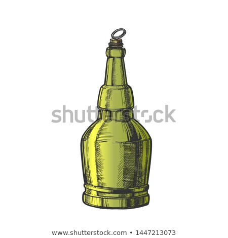 hand drawn screw cap color bottle of beer vector stock photo © pikepicture