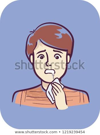 Teen Boy Symptom Drooling Illustration Stock photo © lenm