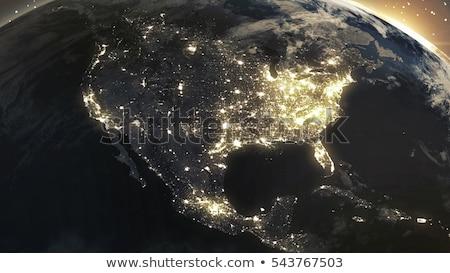 City lights on world map. North America. Stock photo © NASA_images