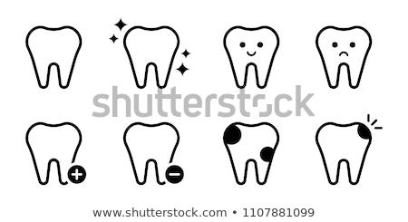 zahnärztliche · Klinik · zwei · Farbe · Symbole · Zahnarzt - stock foto © pikepicture