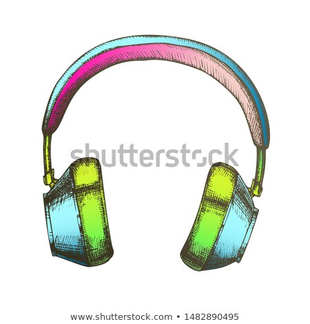 Color Hipster Accessory Wireless Headphones Ink Vector Stock photo © pikepicture