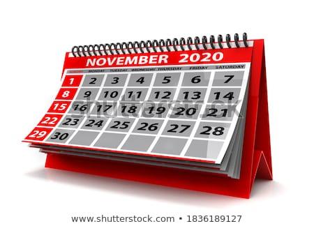 2020 year calendar for august isolated 3d illustration stock photo © iserg