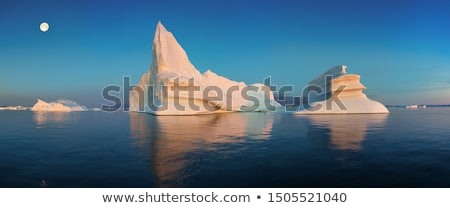 Ice and Icebergs from glacier - arctic nature landscape of icefjord Greenland Stock photo © Maridav