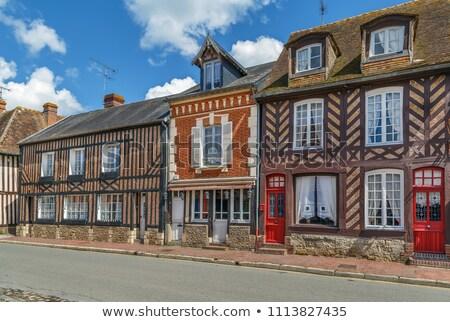 street in Beuvron-en-Auge, France Stock photo © borisb17