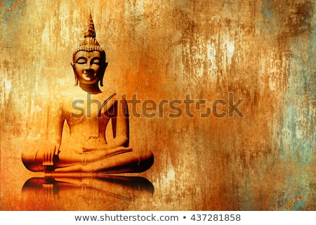 Golden Buddha statue. Buddhism concept Stock photo © galitskaya