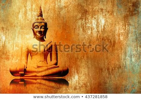 bağbozumu · Buda · heykel · meditasyon · eski - stok fotoğraf © galitskaya