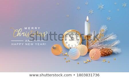 クリスマス カード 銅 3D 松 ストックフォト © cienpies