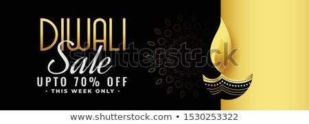 beautiful black and gold diwali festival sale banner design stock photo © sarts