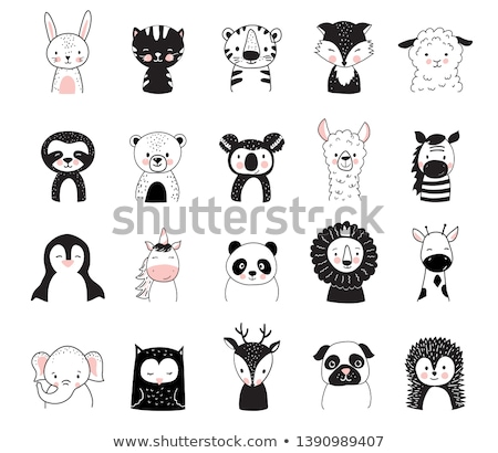 Cute elephant unicorn cartoon hand drawn style Stock photo © amaomam