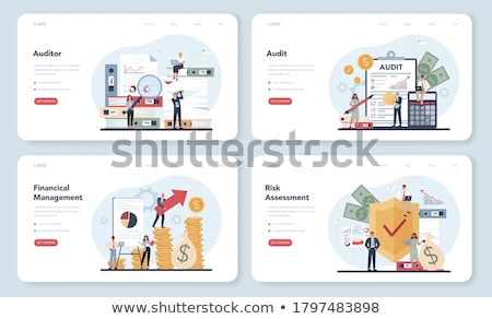 produtividade · aplicativo · interface · modelo · empresário · trabalhando - foto stock © decorwithme