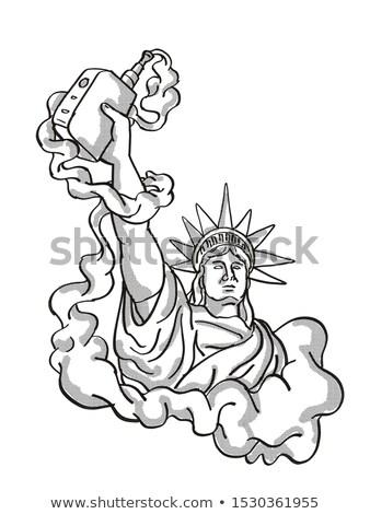 Heykel özgürlük elektronik sigara dövme Stok fotoğraf © patrimonio