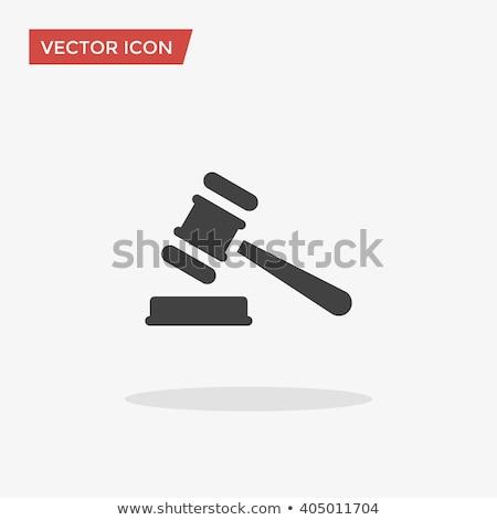 sąd · ikona · prawa · wyrok · wektora · cienki - zdjęcia stock © pikepicture