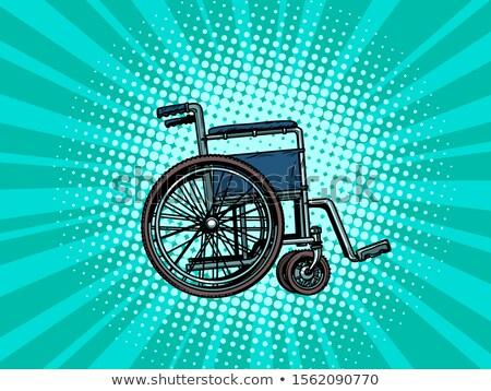 Boş tekerlekli sandalye insan sağlık rehabilitasyon pop art Stok fotoğraf © studiostoks