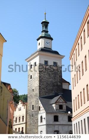 Fekete torony Csehország alsó kastély város Stock fotó © borisb17