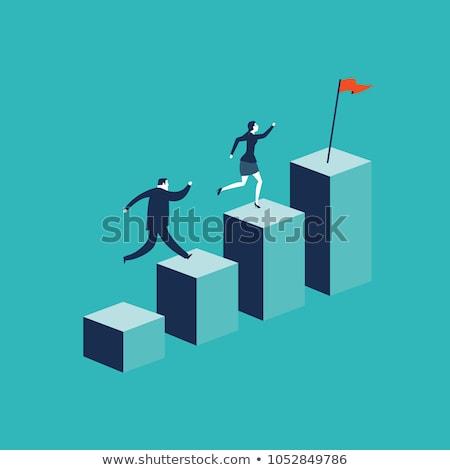 job promotion flat vector illustration stock photo © rastudio