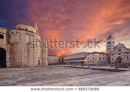 Torre Croácia cidade parede verão viajar Foto stock © borisb17