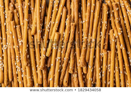 Sesame pretzels stack i Stock photo © grafvision