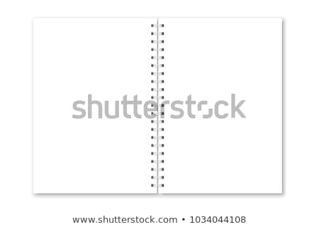 White Sheet in Notepad with Metal Spiral Stock photo © robuart