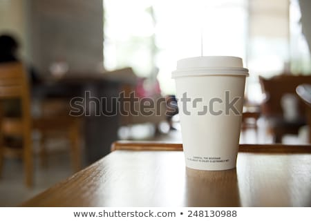 Cafe Interior, People Drink Coffee, Paper Cups Stock photo © robuart