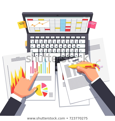Grafisch analyse werknemer computer vector collega's Stockfoto © robuart
