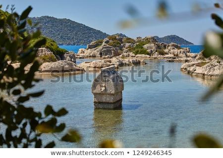 ancient city on the Kekova Stock photo © olira
