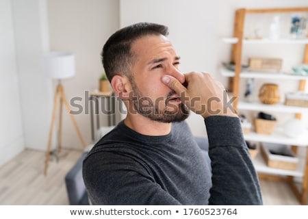 Klimagerät schlecht Geruch home Frau Gesicht Stock foto © AndreyPopov