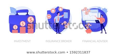 Mali müşavir vektör mecaz iş danışman Stok fotoğraf © RAStudio