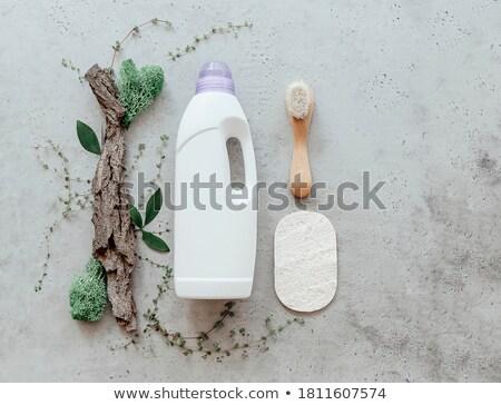 şişe çamaşırhane deterjan ağaç havlama küçücük Stok fotoğraf © dashapetrenko