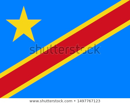 Vector set of the national flag of Democratic Republic of the Congo Stock photo © butenkow