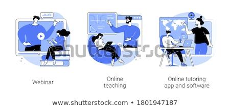 Scheduling online vector concept metaphor Stock photo © RAStudio